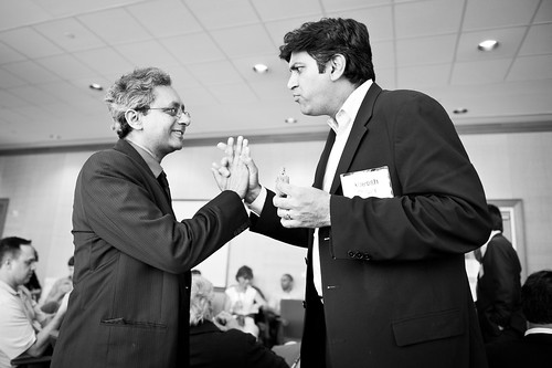 Aneesh Chopra and Joydeep Ghosh talk at the DC2VC event