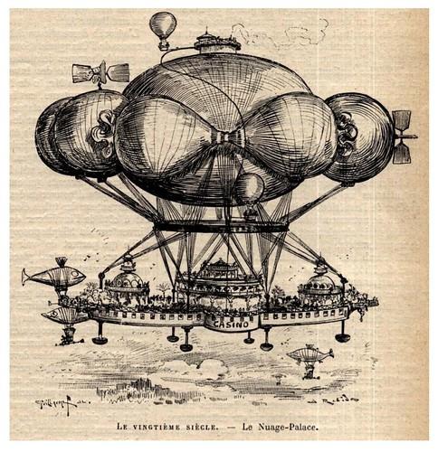 001-El palacio-nube-Le Vingtième Siècle 1883- Albert Robida