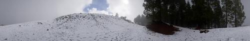 Nieve en el Paisaje Protegido de Las Cumbres, Gáldar. Isla de Gran Canaria