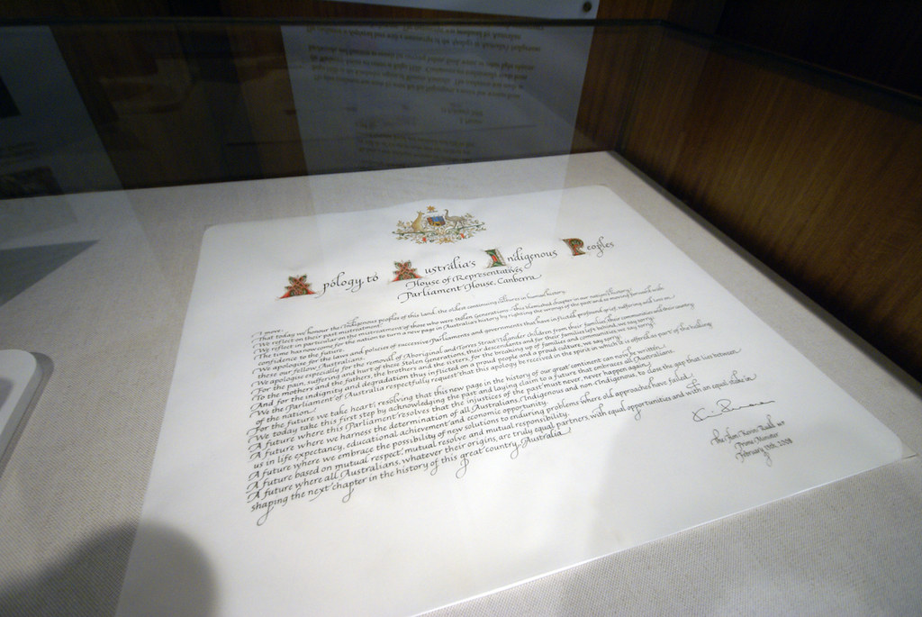Apology to Australia's Indigenous People's (Original in Parliament House, Canberra)