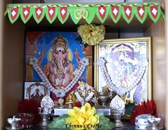 IC11- Green- Torana on the Pooja Altar