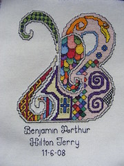 B is for Benjamin (mabith) Tags: art motif crossstitch needlework embroidery illumination craft gift celtic etsy