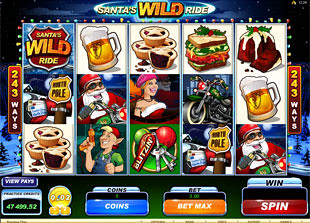 Santa's Wild Ride slot game online review