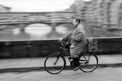 Going to work (guido.masi) Tags: street blackandwhite bw white black canon eos florence streetphotography masi bn firenze panning bianco nero guido biancoenero 550d guidomasi