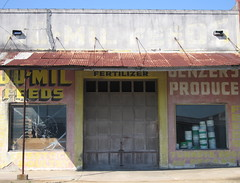 feeds, fertilizers & produce (joolieboolie) Tags: building abandoned texas storefront produce feeds schulenberg fertilizers