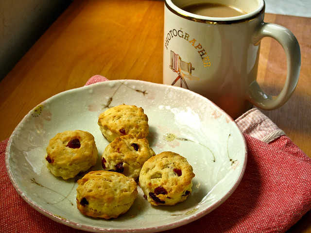 IMG_1256 Cranberry scones for breakfast, 蔓越莓当早餐