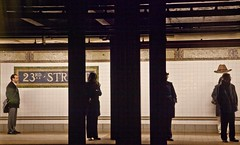 23rd Str., NY subway (gerdaindc) Tags: newyorkcity people train subway waiting publictransportation metro trainstation 23rdstr