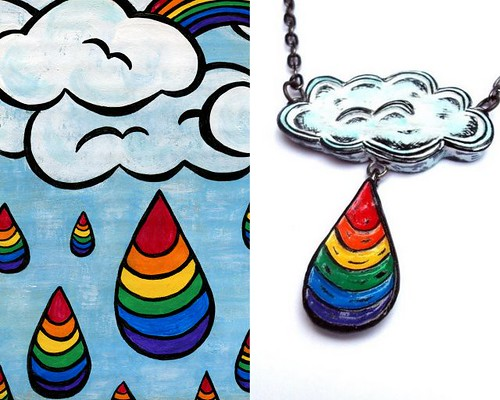 Inspiration revealed- Cloudy with a Chance of Rainbows