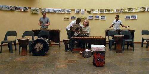 J.D. and Kris play the Marimbas