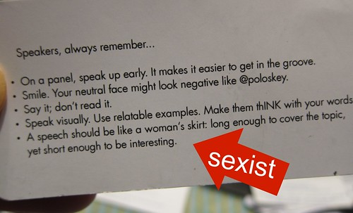 sexist  marketing material at SXSW - Ink Public Relations