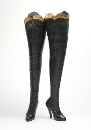 black fetish boots 1920s