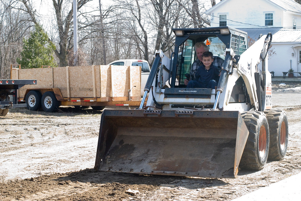 Penn drives the bobcat