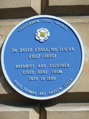 Photo of David Lyall blue plaque