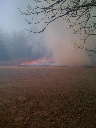 Fire Near The House