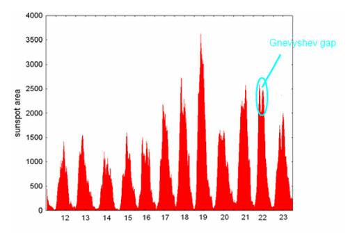 Picos gemelos en el ciclo solar
