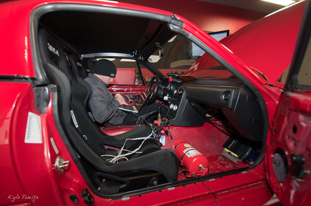 Jason Oefelein tuning a turbo Mazda Miata