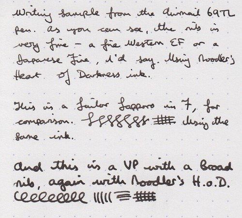 Airmail 69L writing sample