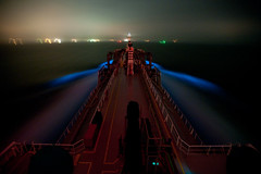 Phosphorescence (OneEighteen) Tags: night port harbor marine ship houston nave maritime nautical schiff pilot channel bowwave phosphorescence  schip navire  houstonshipchannel