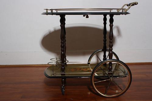 vintage italian antique teacart liquorcart teacartchairs