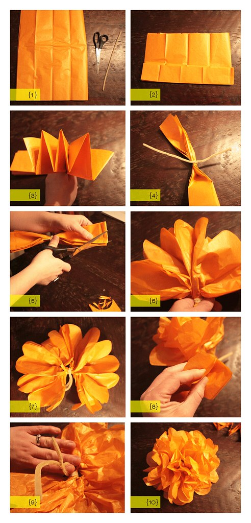 DIY tissue flowers