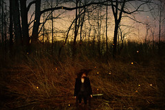 everything is not certain (londonscene) Tags: sunset girl forest canon 50mm fireflies uncertainty