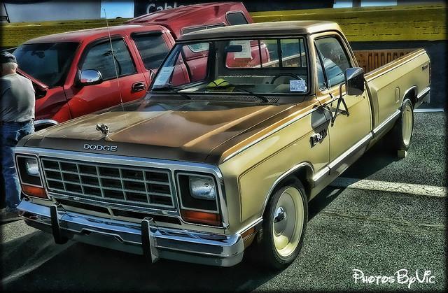 truck pickup transportation vehicle dodge ram 1985 85 charlottenc carshow prospector springautofair2014