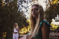 Morgan (lordgogurt) Tags: people person face portrait figure being body life girl gal female lady woman outdoor outdoors dusk evening sunset night grass field meadow country countryside rural napa wine winecountry calistoga hair blonde trees leaves summer seasons