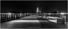 Deventer by Night, Netherlands (CvK Photography) Tags: monochroom deventer netherlands monochrome bw blackandwhite blackwhite night nightphotography skyline city cityscape holland nederland
