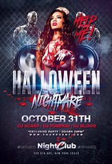 Halloween Nightmare Party | Flyer Template (Rome Creation) Tags: autumn bashnightclub beer blood club darkflyer dead drinks fullmoon halloween halloweennight halloweenparty halloweentemplates happyhalloween horrornight night nightmare party photoshop poster red scary sexy sexygirls template thriller trickortreat walkingdead zombie zombiesland