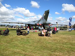 Rear view of Vulcan XL426 at VRT HQ, Southend Airport 21.08.16 (Trevor Bruford) Tags: vrt vulcan restoration trust avro xl426 southend airport nuclear bomber cold war plane jet airplane aircraft aviation raf tin triangle delta lady royal air force