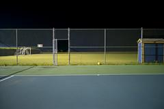 (Patrick J. McCormack) Tags: tennis gw690 kodak portra film 120 glow night school 6x9