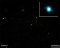 NGC 6210  A Planetary Nebula in the Constellation Hercules (Tom Wildoner) Tags: tomwildoner leisurelyscientistcom leisurelyscientist ngc6210 planetarynebula planetary nebula hercules constellation star space science explosion blue border astronomy astrophotography astronomer telescope meade lx90 august 2016 deepspace canon canon6d teamcanon cosmology cosmos deepsky dss deepskystacker