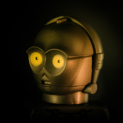 one with the droid (jooka5000) Tags: blackbackground droids u3po protocoldroid lego 11 photography galaxy portrait thelook experiment depthoffield starwars surreal toys creativity toyphotography legography minifigs