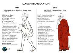 LO SGARBO E LA VILTA' (uomoplanetario.org) Tags: uomoplanetarioorg mama satira vignetta papa francesco dalailama gandhi inghilterra churchill
