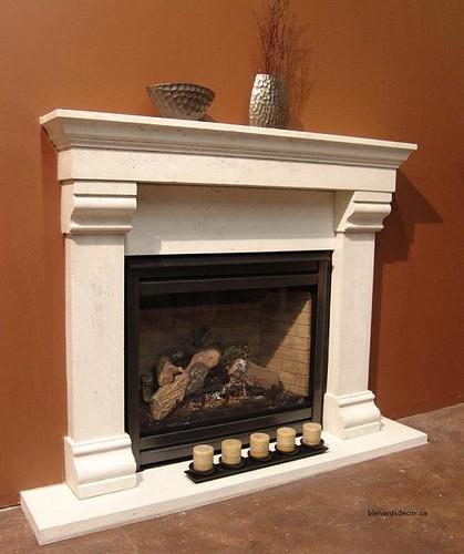 Fireplace Mantel 22 Limestone