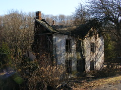 Abandoned Places (road_less_trvled) Tags: houses blackandwhite bw abandoned scary pennsylvania empty eerie creepy spooky pa ghosts forsaken decrepit paranormal ruraldecay deteriorated decayed dilapidated forlorn hauntedhouses abandonedhouses roadslesstravelled ruralexploration southeasternpa