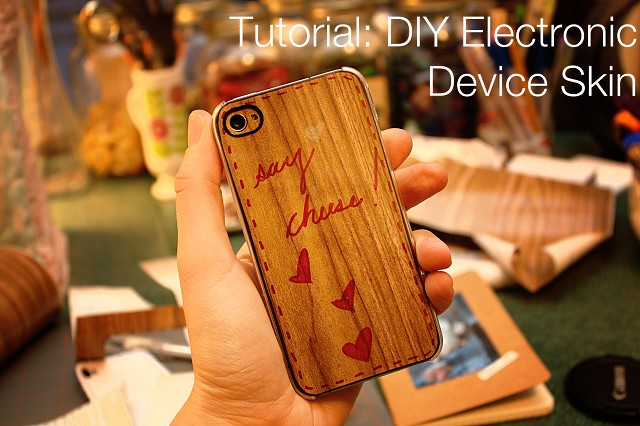 DIY iPhone skin tutorial 1