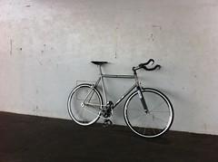 Ian's Lynskey Performance titanium Fixie in Tokyo Japan (Lynskey_Ti) Tags: mountainbike mtb fixie brake custom disc titanium 29er roadbike sliders lynskeyperformance rearbrakesinglespeed