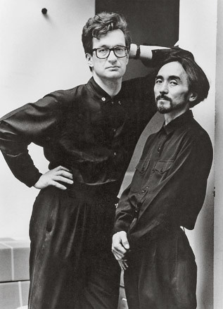 003 Yohji Yamamoto, pictured here with film-maker Wim Wenders.