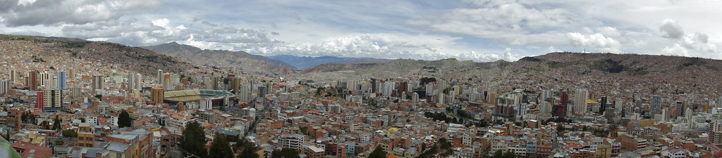View of La Paz, Bolivia