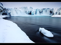 Waterfall of the Gods - Goafoss, Iceland (orvaratli) Tags: winter snow cold ice river landscape frozen waterfall iceland northeast mvatn goafoss