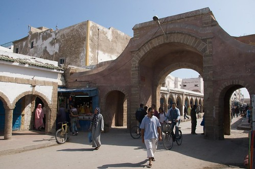 Photo of the entrance to Essaouira souks in the old medina in center town