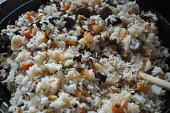 Eight Treasure Rice: Making the stuffing