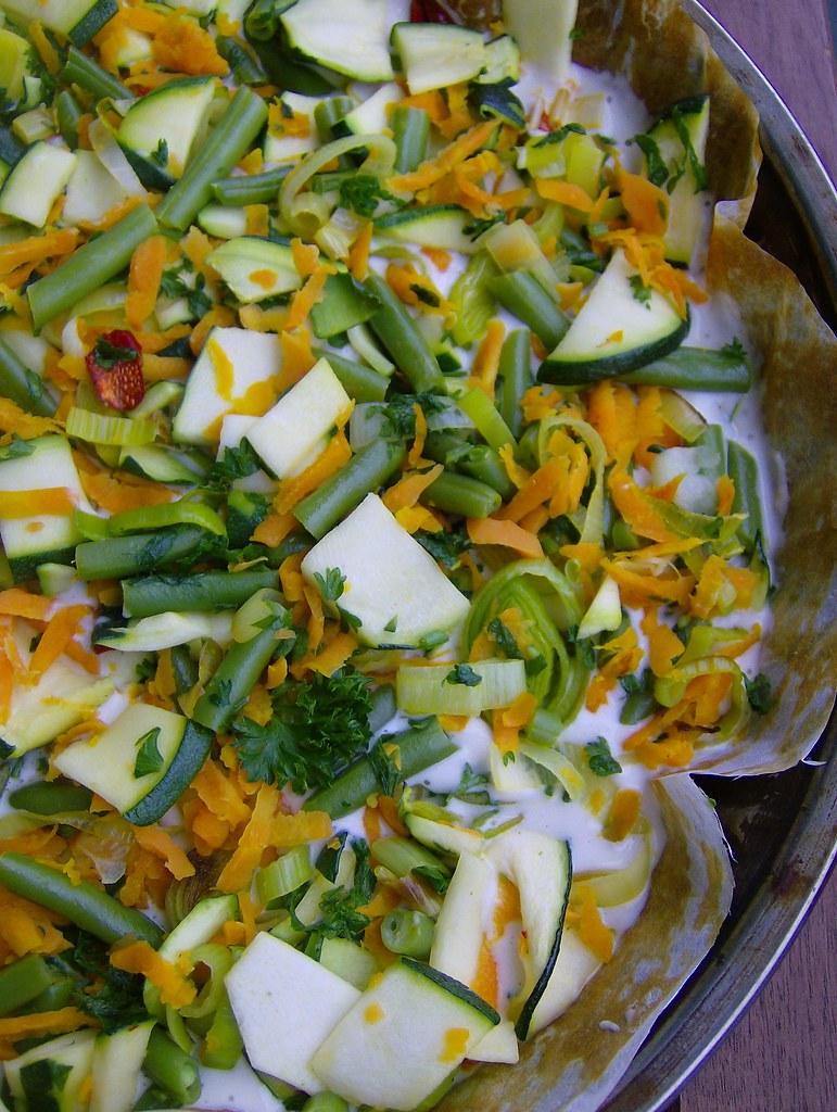 Torta licuada de verduras