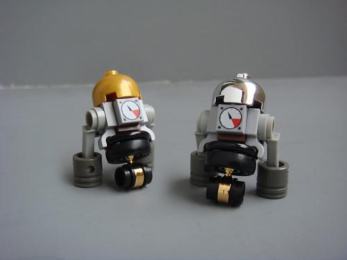 Custom minifig Steampunk R2 D2s