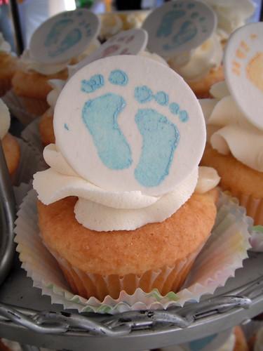 Footprint Baby Shower Cucpcake