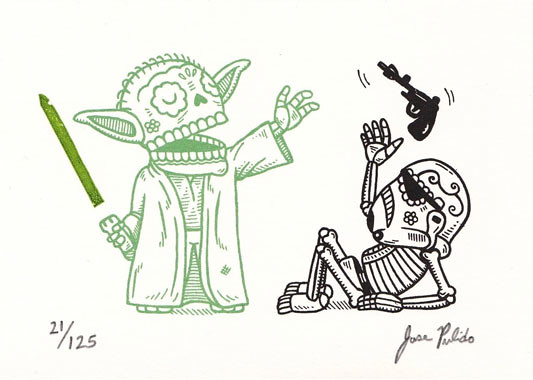 Star Wars Mexican Traditional Art - Yoda