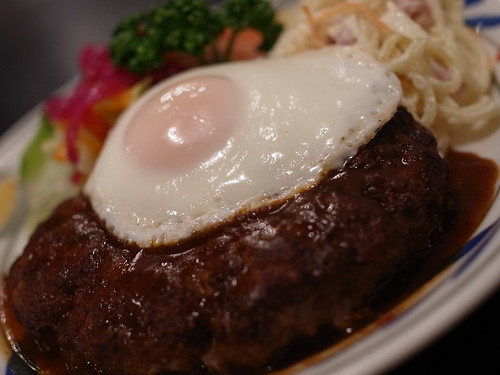 L-sized hamburg steak