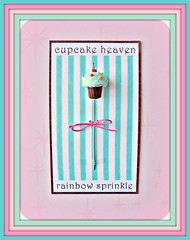 cupcake heaven aqua rainbow pin topper (Pinks & Needles (used to be Gigi & Big Red)) Tags: etsy donotcopy gigiminor pinksandneedles pintoppers pintopper pleasedonotcopymydesigns designimagebypinksneedles