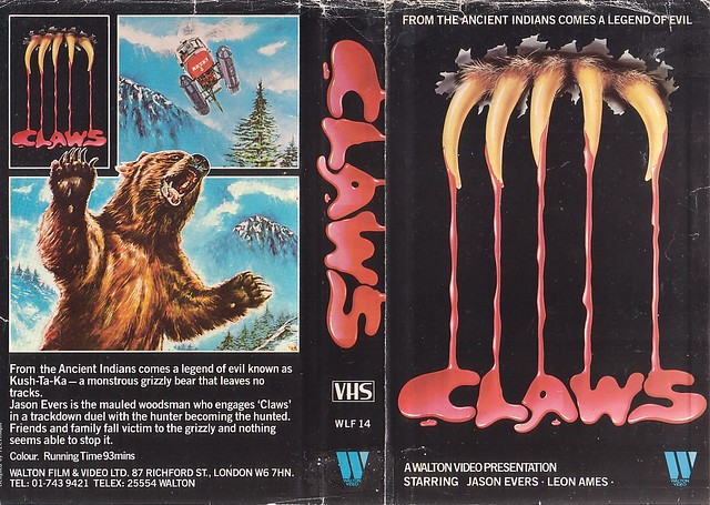 Claws (VHS Box Art)